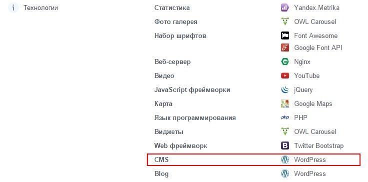 Как узнать, на какой CMS сайт