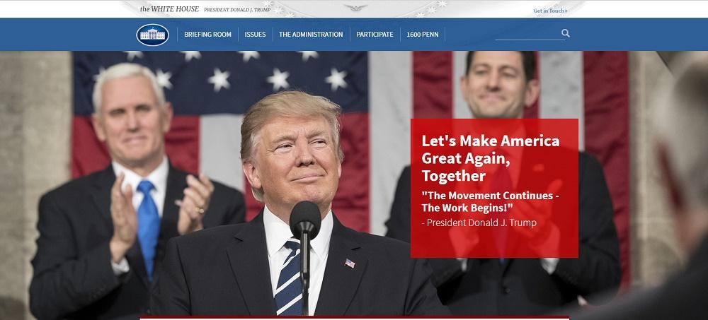 Сайт Белого Дома на Drupal