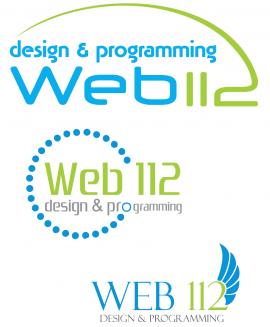 Варианты логотипа для интернет-студии Web112